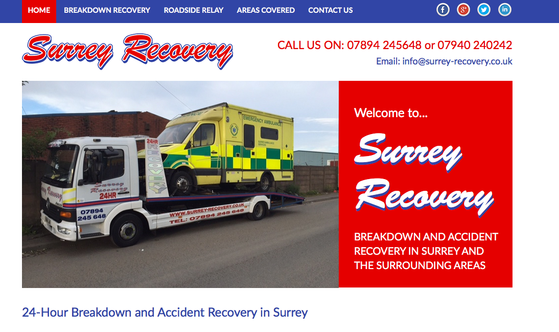 surrey recovery backlinks